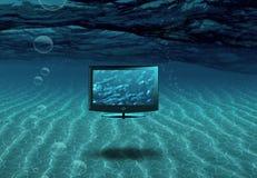 Pantalla plana en el mar libre illustration