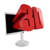 Pantalla plana TV con 3D stereocopic Foto de archivo
