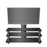 Pantalla plana TV LCD, plasma en un soporte especial realista Fotografía de archivo libre de regalías