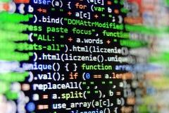 Pantalla programada del código fuente de la codificación foto de archivo libre de regalías