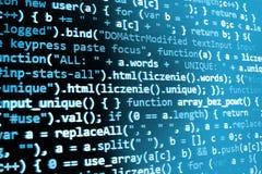 Pantalla programada del código fuente de la codificación fotos de archivo