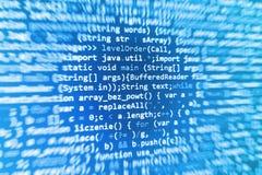 Pantalla programada del código fuente de la codificación imágenes de archivo libres de regalías