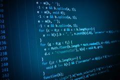 Pantalla programada del código fuente de la codificación fotos de archivo libres de regalías