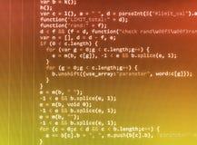 Pantalla programada del código fuente de la codificación foto de archivo