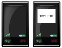 Pantalla táctil en blanco del teléfono móvil Imágenes de archivo libres de regalías
