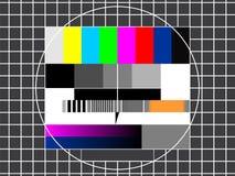 Pantalla técnica de la TV Imagen de archivo libre de regalías
