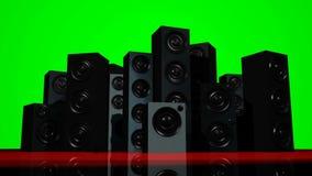 Pantalla verde de los altavoces almacen de metraje de vídeo