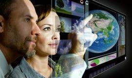 Pantalla virtual 3D Imágenes de archivo libres de regalías