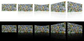 Pantallas de la TV Imagen de archivo