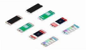 Pantallas de Smartphone del vector stock de ilustración