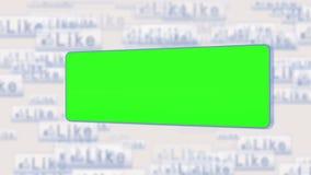 Pantallas dominantes de la croma en una red social ilustración del vector