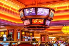 Pantallas venecianas del casino foto de archivo libre de regalías
