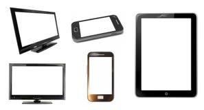 Pantallas y smartphone de monitor imagen de archivo