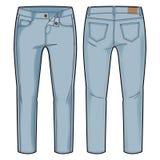 Pantalon bleu-clair Images stock