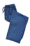 Pantalon de pyjama bleu de plaid Image stock