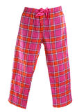 Pantalon de pyjama de plaid Images stock