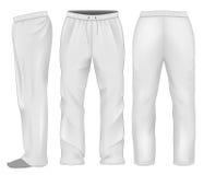 Pantalon de survêtement d'hommes blanc Photo stock