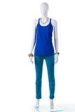 Pantalon de turquoise avec le dessus bleu Image stock