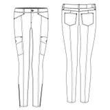 Pantalone sexy del carico Fotografia Stock