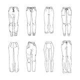 pantalones ilustración del vector