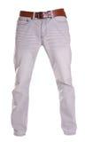 Pantalones aislados en el blanco, estilo de la moda del fantasma de la fotografía, gre Imagen de archivo