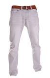 Pantalones aislados en el blanco, estilo de la moda del fantasma de la fotografía, gre Imágenes de archivo libres de regalías