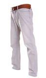 Pantalones aislados en el blanco, estilo de la moda del fantasma de la fotografía, gre Imagenes de archivo
