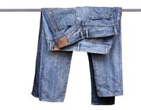 Pantalones azules de la mezclilla Fotografía de archivo libre de regalías