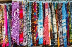 Pantalones camboyanos en venta Imagen de archivo libre de regalías