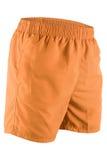 Pantalones cortos anaranjados de los hombres para nadar Fotos de archivo