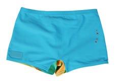 Pantalones cortos azules imágenes de archivo libres de regalías