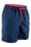 Pantalones cortos azules de los hombres para nadar Foto de archivo