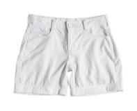 Pantalones cortos blancos Fotos de archivo