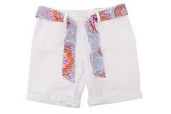 Pantalones cortos blancos de los vaqueros de las muchachas. Fotos de archivo libres de regalías