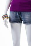 Pantalones cortos cortos y sistema de la pulsera Fotos de archivo