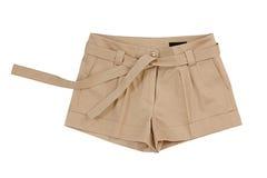 Pantalones cortos de Brown Fotografía de archivo libre de regalías