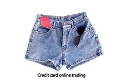 Pantalones cortos de la mezclilla de la moda para las mujeres imágenes de archivo libres de regalías
