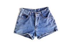 Pantalones cortos de la mezclilla de la moda para las mujeres imagenes de archivo