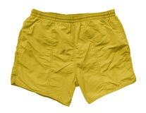 Pantalones cortos de la natación - amarillo Fotos de archivo libres de regalías