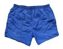 Pantalones cortos de la natación - azul Imagenes de archivo
