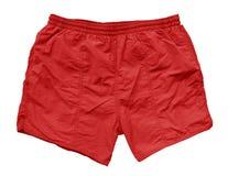 Pantalones cortos de la natación - rojo Foto de archivo libre de regalías