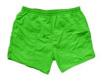 Pantalones cortos de la natación - verde Foto de archivo libre de regalías