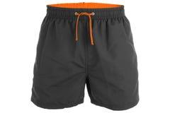 Pantalones cortos de los hombres negros para nadar Fotografía de archivo libre de regalías