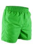 Pantalones cortos de los hombres verdes para nadar Imagenes de archivo