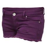 Pantalones cortos de los vaqueros de las mujeres Foto de archivo