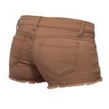 Pantalones cortos de los vaqueros de las mujeres Fotografía de archivo