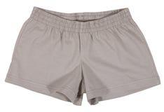Pantalones cortos del deporte Aislado en el fondo blanco fotografía de archivo libre de regalías