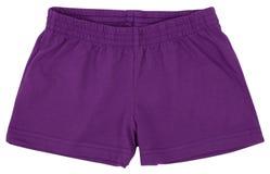 Pantalones cortos del deporte Aislado en el fondo blanco fotos de archivo libres de regalías