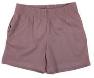 Pantalones cortos del deporte Aislado en el fondo blanco fotografía de archivo