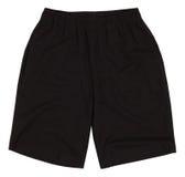 Pantalones cortos del deporte Aislado en el fondo blanco imagenes de archivo